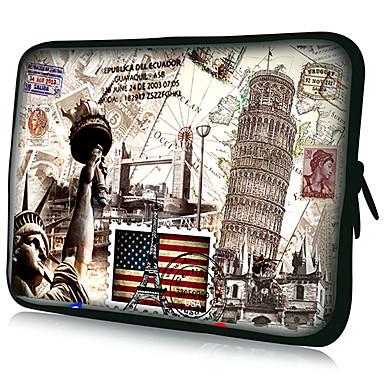 Laptop-Tablet-Hülle Fall Postkarte Muster wasserdicht für 7