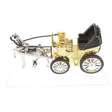 Briquet à gaz en forme de chariot (bronze)