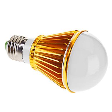 E26/E27 5 W 5 High Power LED 350 LM Warm White A Dimmable Globe Bulbs AC 220-240 V