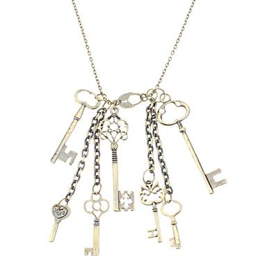 Multiple Keys Retro Necklace