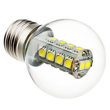 1pc 3 W 100-150 lm E26 / E27 LED Küre Ampuller G45 18 LED Boncuklar SMD 5050 Dekorotif Beyaz 220-240 V / RoHs