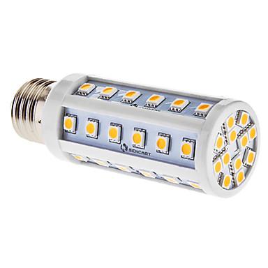 3000lm E26 / E27 LED-maïslampen T 48 LED-kralen SMD 5050 Warm wit 85-265V