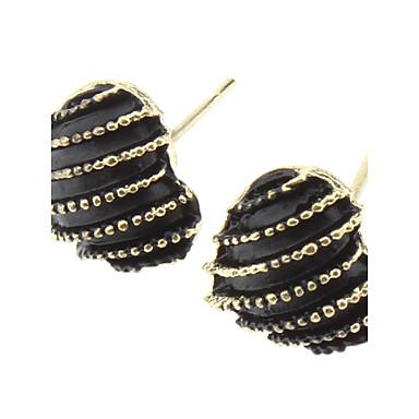 OLL Retro Stripe Heart Earrings