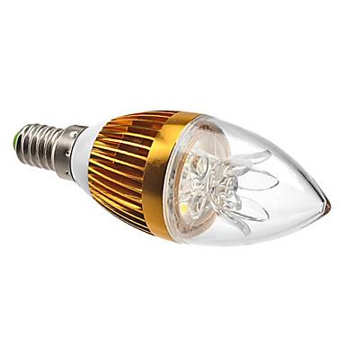 3W E14 Luzes de LED em Vela C35 3 LED de Alta Potência 270 lm Branco Natural Decorativa / Regulável AC 220-240 V