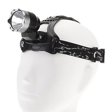 oppladbart Cree Q5 LED sykkel lys hodelykt sett (med batteri og lader)