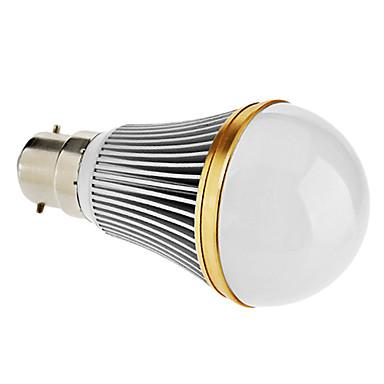 B22 7 W 7 High Power LED 480 LM Natural White A Dimmable Globe Bulbs AC 220-240 V