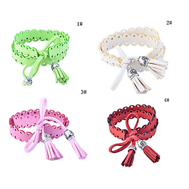 Lureme®Double-sided Velvet Tassel Bracelet(Assorted Colors)