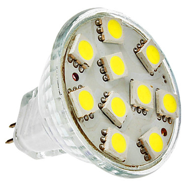 2W GU4(MR11) LED Spotlight MR11 10 SMD 5050 150 lm Natural White DC 12 V