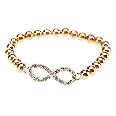 Gold Plated Alloy Zircon Infinite Pattern Bracelet