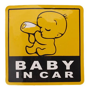 Baby im Auto Muster Warnung Reflektierende Aufkleber für Autos