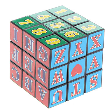 3x3x3 Magic Cube with Letters and Numbers
