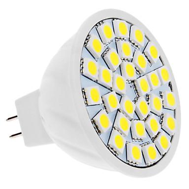 4W 420lm GU5.3(MR16) Focos LED MR16 30 Cuentas LED SMD 5050 Blanco Natural 12V