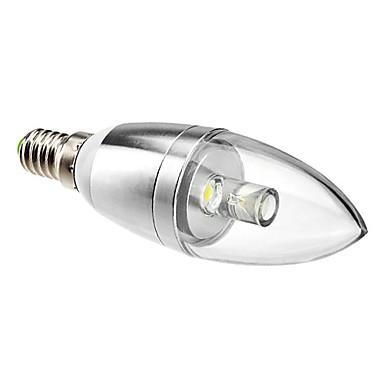 Lâmpada Vela Decorativa E14 1 W 90 LM 6000K K Branco Natural 1 LED de Alta Potência AC 85-265 V C