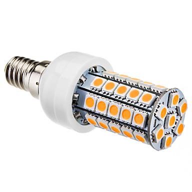 4W E14 Lâmpadas Espiga T 47 SMD 5050 280 lm Branco Quente AC 220-240 V