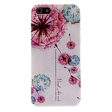 Colorful Floating Dandelions Pattern Hard Case for iPhone 5/5S