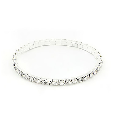 Silver Plated Alloy Zircon Bracelet