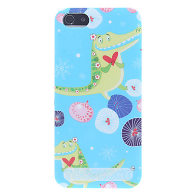 Cute Cartoon Crocodile Pattern Hard Case for iPhone 5/5S
