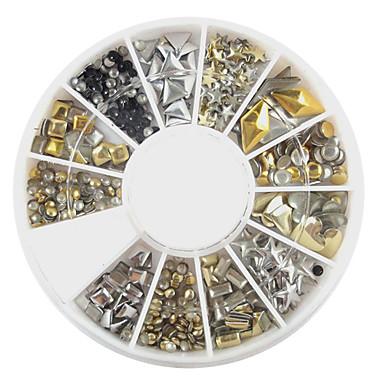 240 pcs Parıltı Nail Art Takımı Tırnak Takısı Sevimli tırnak sanatı Manikür pedikür Günlük Karikatür / Moda / Arkilik / Nail Jewelry