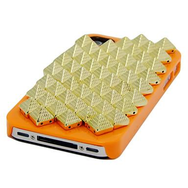 estilo punk rebite caso difícil padrão para o iphone 5/5s (laranja)