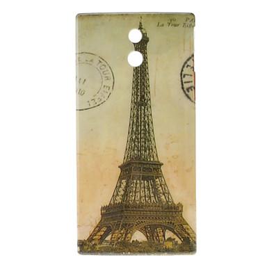 Retro Eiffel Tower Pattern Hard Case for Sony Xperia P LT22i