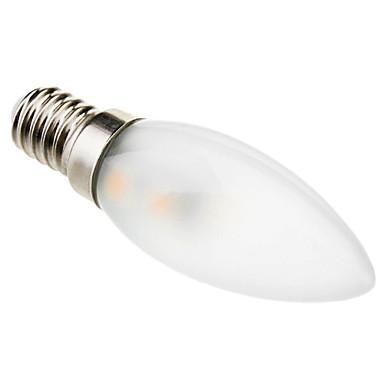 1W 50-100 lm E14 Luzes de LED em Vela C35 7 leds SMD 5050 Decorativa Branco Quente AC 220-240V