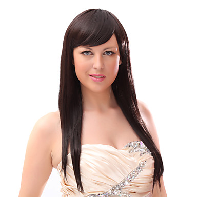 İnsan Saçları Kapsız Peruklar Sentetik Peruklar Klasik Katmanlı Saç Kesimi Yüksek kalite Siyah-Sarışın Kadın's Komple Dantel Uzun Uzun