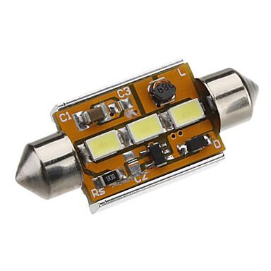 Festoon 39mm 1.5W 3x5730SMD White Light LED Bulb for Car Reading Lamp CANBUS (DC 12-24V)