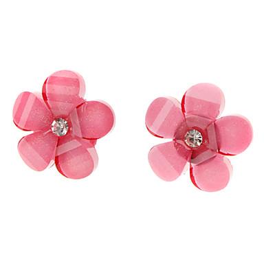 Five-leaf Flower Stainless Steel Stud Earrings
