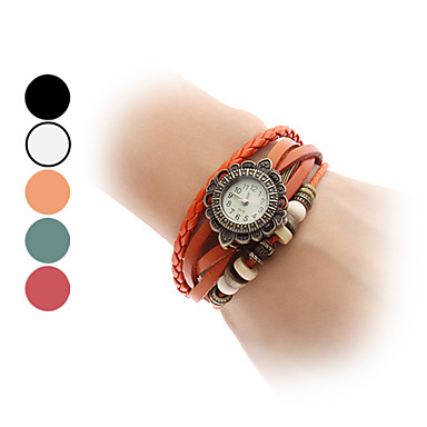 Women's Wing Pendant Quartz PU Bracelet Watch