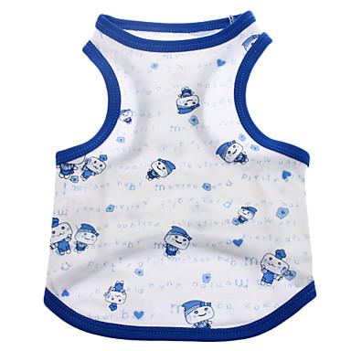 Köpek Tişört Köpek Giyimi Karton Mavi Pembe Kostüm Evcil hayvanlar için