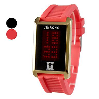 Silicone Masculino Digital LED relógio de pulso (cores sortidas)