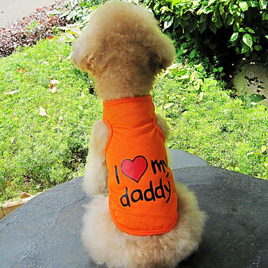 I Love My Daddy Pattern Cotton Vest for Dogs (S-XXL)