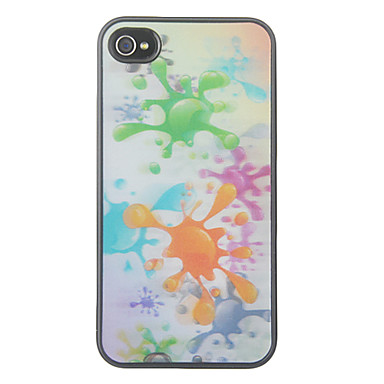 3D Changeable Colorful Dome of Water Pattern Hard Case for iPhone 4/4S