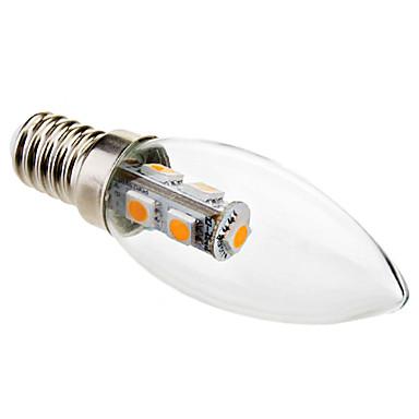 1W 50-100 lm E14 LED Mum Işıklar C35 7 led SMD 5050 Dekorotif Sıcak Beyaz AC 220-240V