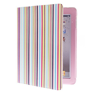 Etui Til iPad 4/3/2 Med stativ Fuldt etui Linjeret / bølget PU Læder for