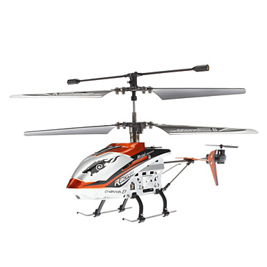 JXD 340 4 Kanal Mini Metal-Fernbedienung Hubschrauber mit Gyro & LED (6xAA)