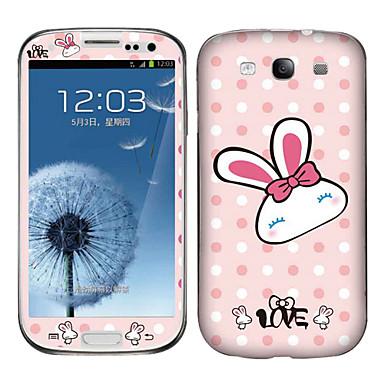 Прекрасные Кролик шаблон тела наклейка для Samsung I9300 Galaxy S3