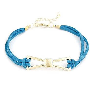 BaoGuang®Elegant Bowknot Double Leather Bracelet(Random Colors)