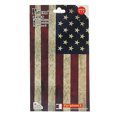 The Stars and The Stripes Pattern Skin Guard and Screen Protector with Cleaning Cloth for iPhone 5