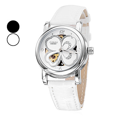 Women's PU Mechanical Analog Wrist Watch (Assorted Colors)