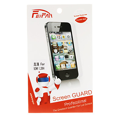 Crystal Clear Screen Guard with Cleaning Cloth for Sony L36h Xperia Z