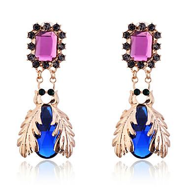 Druppel oorbellen Kristal Verguld Blauw Sieraden Voor Feest Dagelijks Causaal 2 stuks