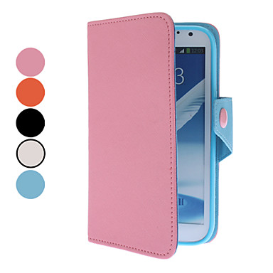 Litchi Pattern PU Full Body Case with Card Slot and Magnetic Snap for Samsung Galaxy Note 2 N7100 (Assorted Colors)