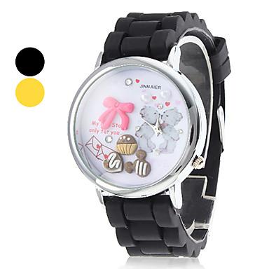 Femmes et d'argile de polymère de silicone de quartz analogique montre-bracelet de fille (couleurs assorties)