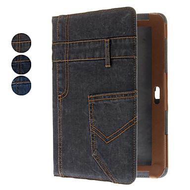 Jeans-Muster Full Body Case mit Ständer und Card Slot für Samsung Galaxy Note N8000 10,1 (verschiedene Farben)