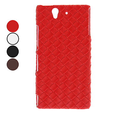 Solid Color Mat Lines Pattern PC Hard Case for Sony L36h Xperia Z (Assorted Colors)
