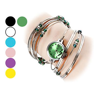 Kadın's Bilezik Saat Moda Saat Quartz Büyük indirim Alaşım Bant Halhal Gümüş