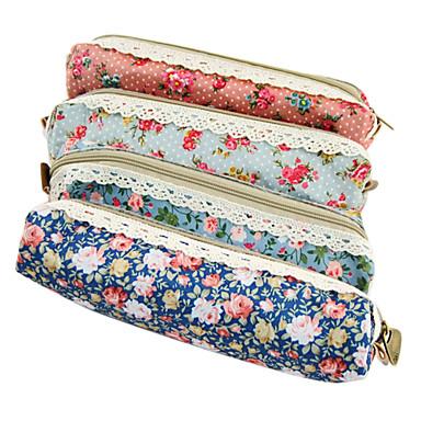 çiçek dantel kalem çantası (rastgele renk)