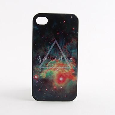 Custodia rigida con disegno di galassia stellata, per iPhone 4/4S