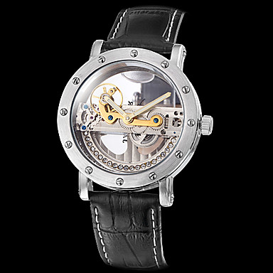 Men's Watch Auto-Mechanical Hollow Engraving Water Resistant Cool Watch Unique Watch